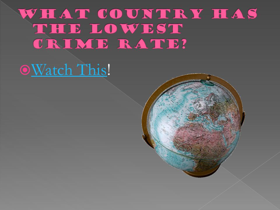 What Country has the lowest crime rate