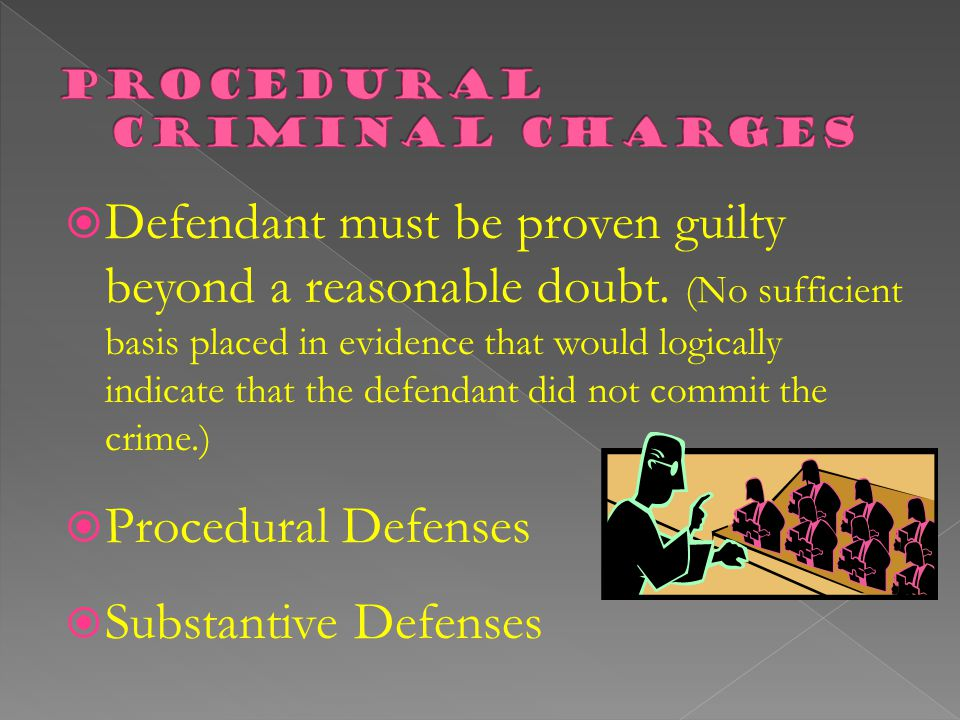 Procedural Criminal Charges