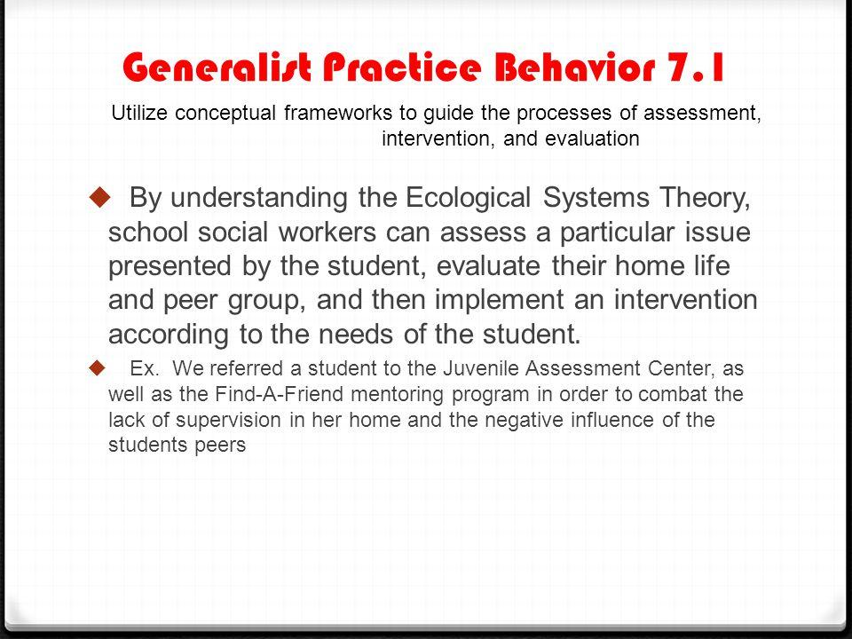 Generalist Practice Behavior 7.1