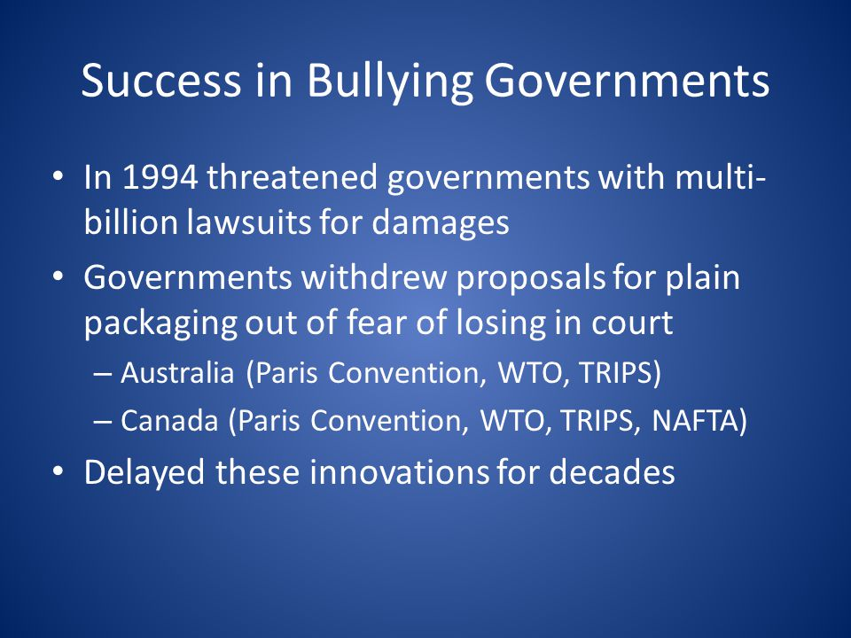Success in Bullying Governments