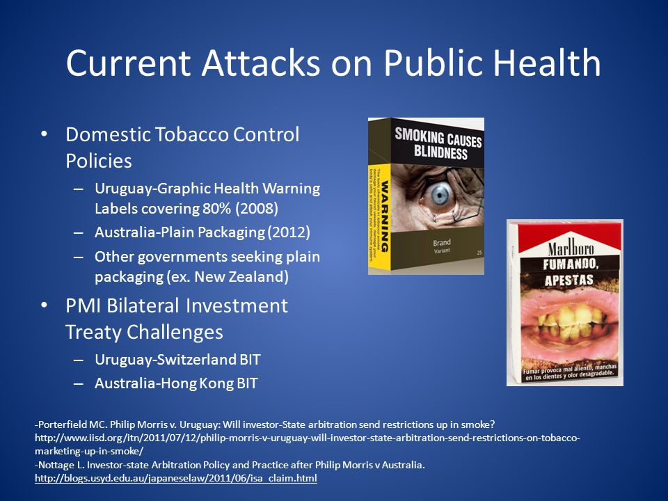 Current Attacks on Public Health