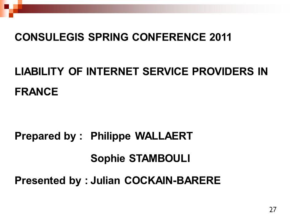 CONSULEGIS SPRING CONFERENCE 2011