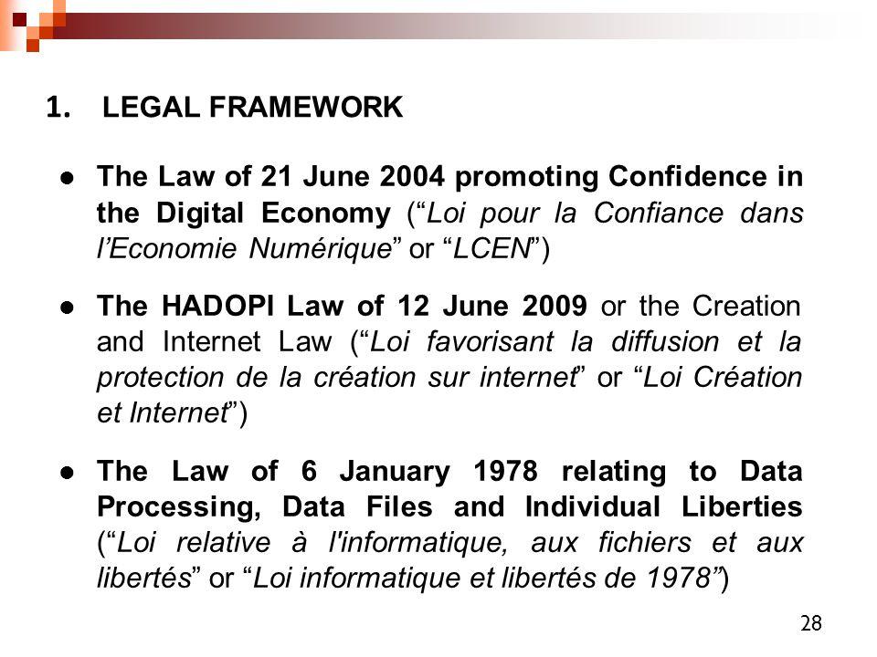 1. LEGAL FRAMEWORK