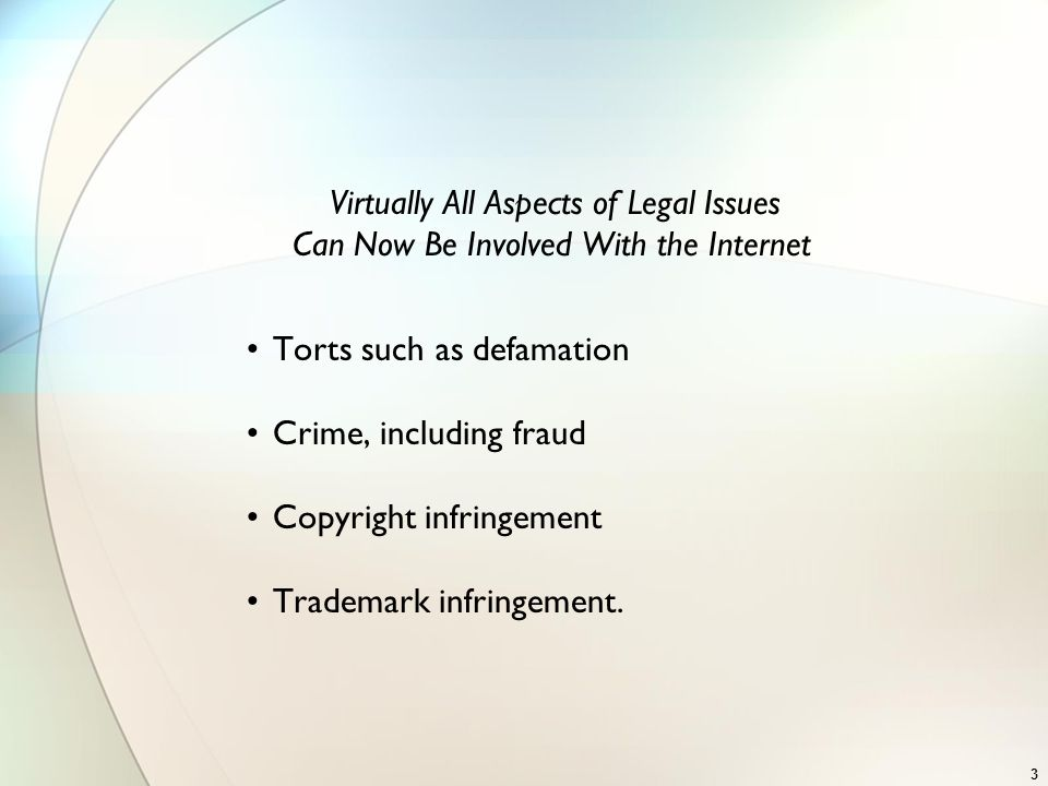 Virtually All Aspects of Legal Issues