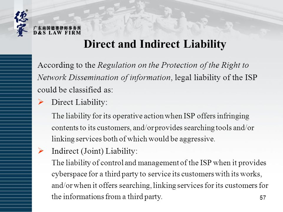 Direct and Indirect Liability