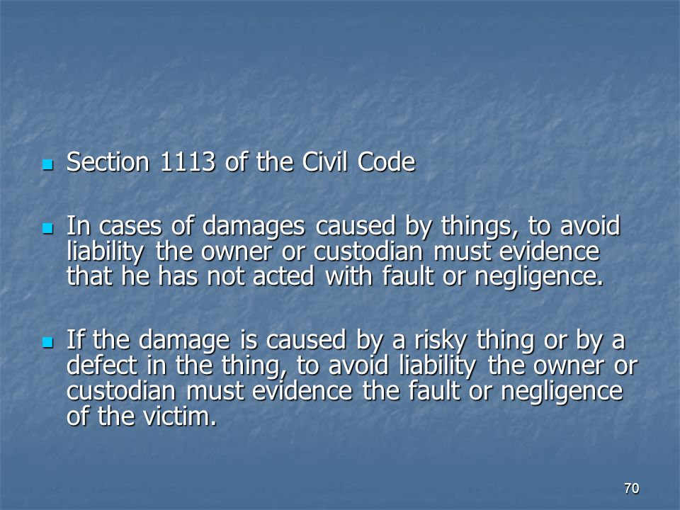 Section 1113 of the Civil Code