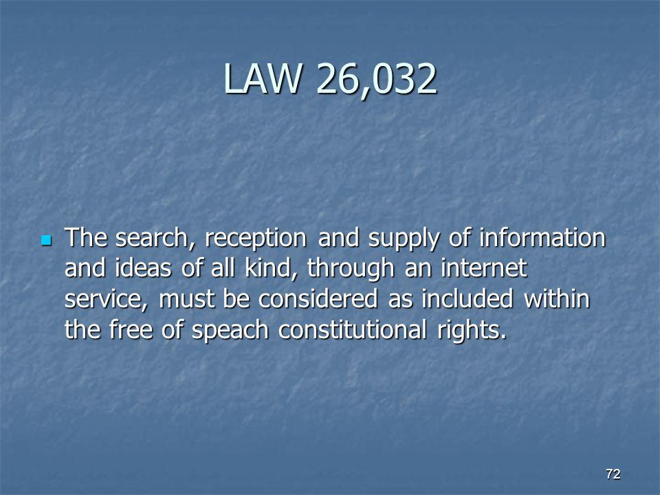 LAW 26,032