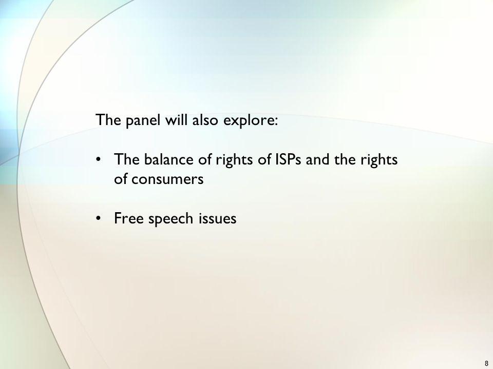 The panel will also explore: