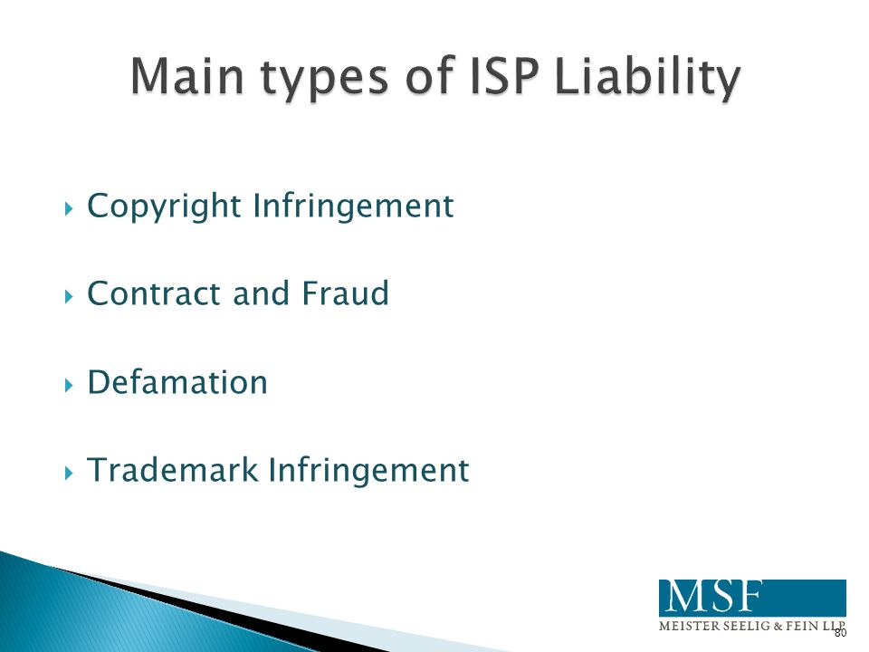 Main types of ISP Liability