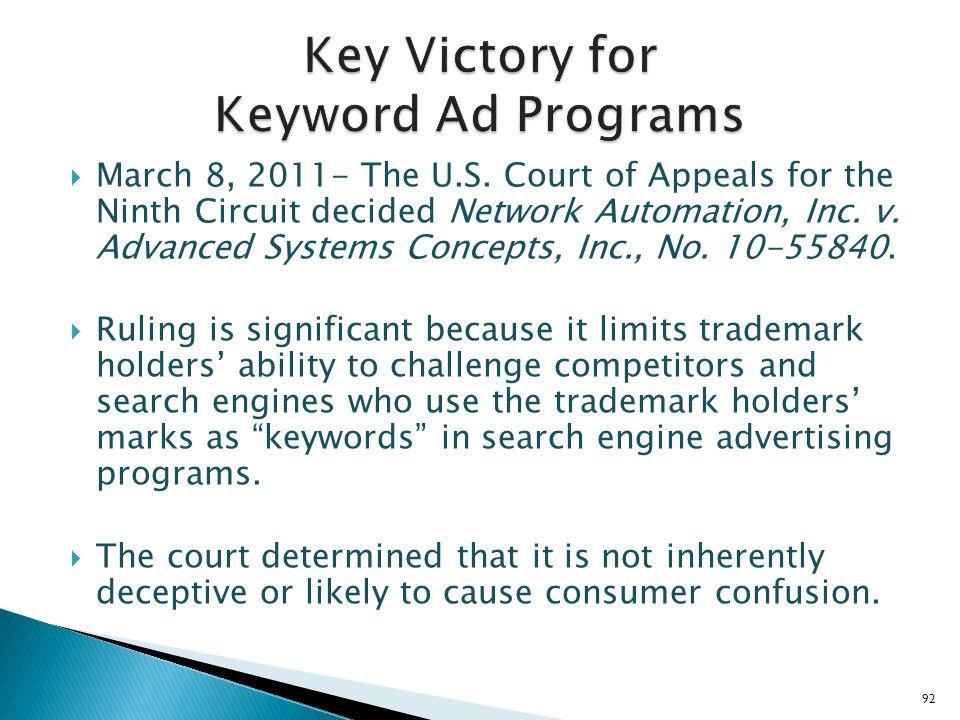 Key Victory for Keyword Ad Programs