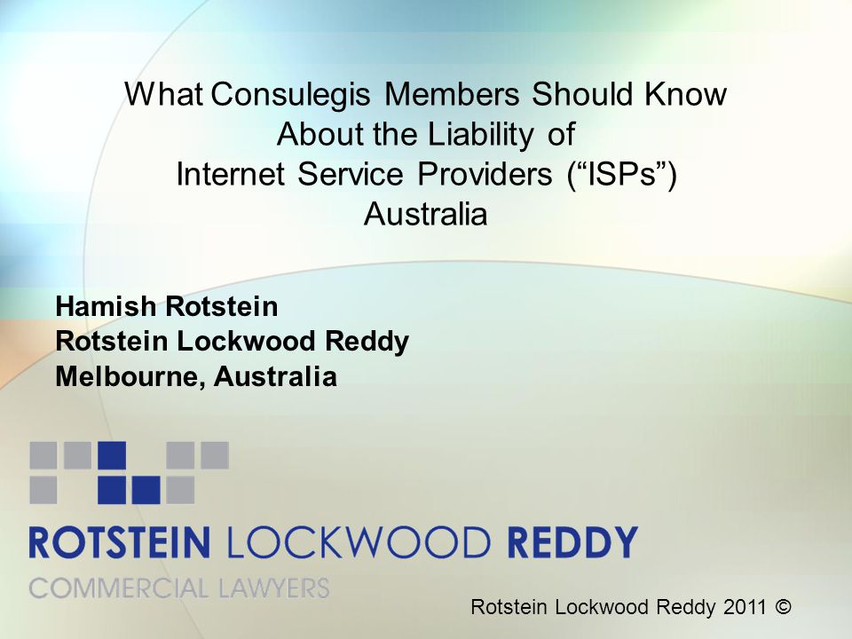 Hamish Rotstein Rotstein Lockwood Reddy Melbourne, Australia