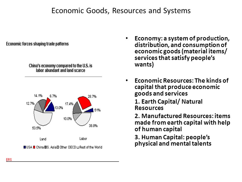 Economic Goods, Resources and Systems