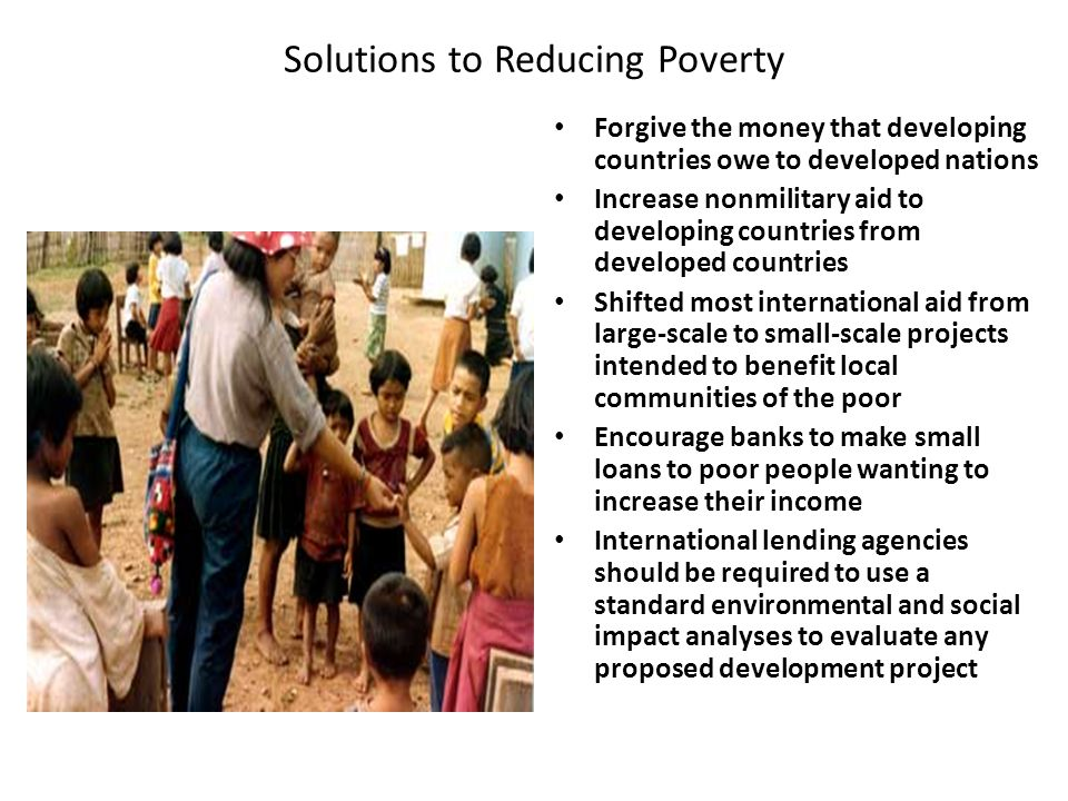 Solutions to Reducing Poverty