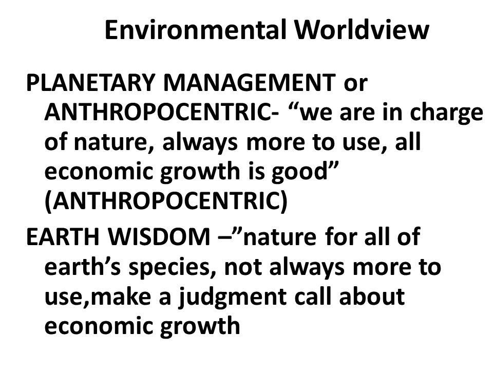 Environmental Worldview