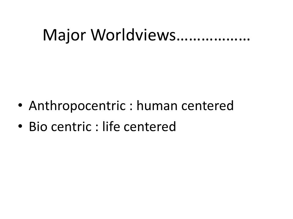 Major Worldviews………………