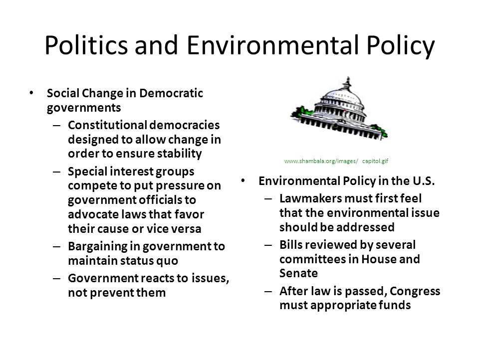 Politics and Environmental Policy