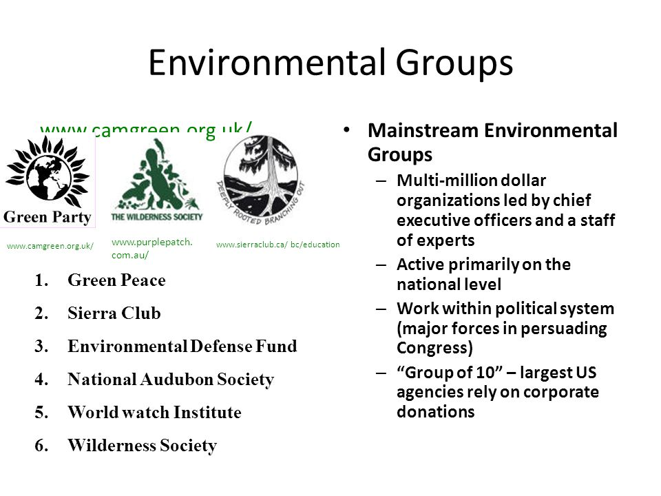 Environmental Groups www.camgreen.org.uk/