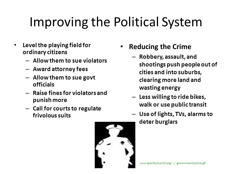 Improving the Political System
