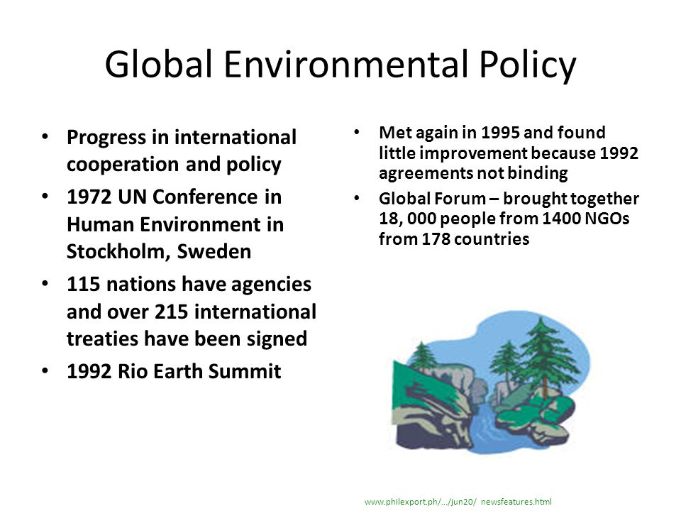 Global Environmental Policy