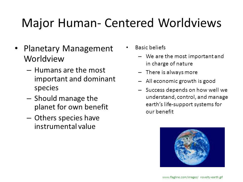 Major Human- Centered Worldviews