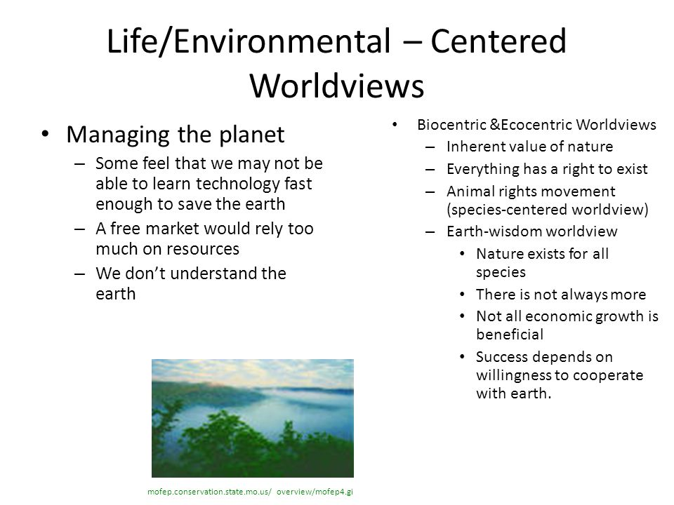 Life/Environmental – Centered Worldviews