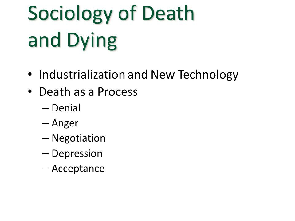 Sociology of Death and Dying