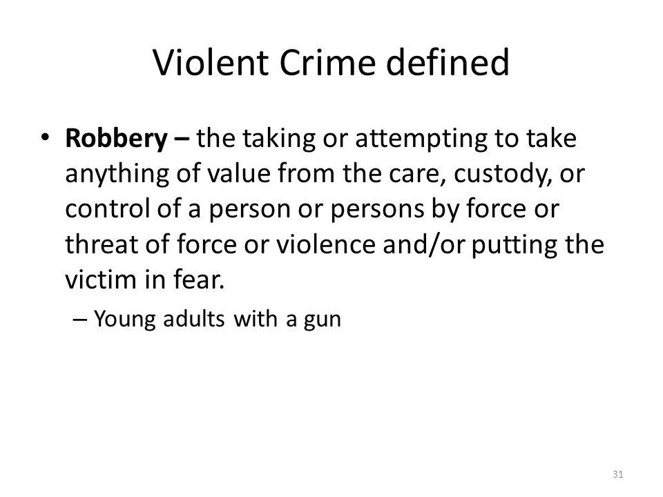 Violent Crime defined
