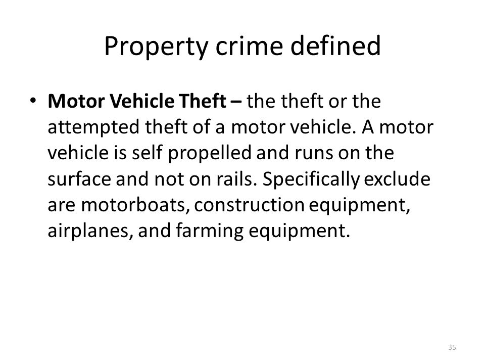 Property crime defined