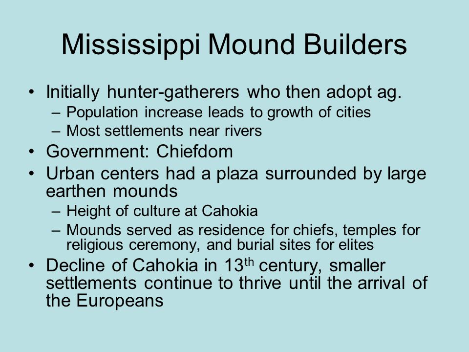 Mississippi Mound Builders