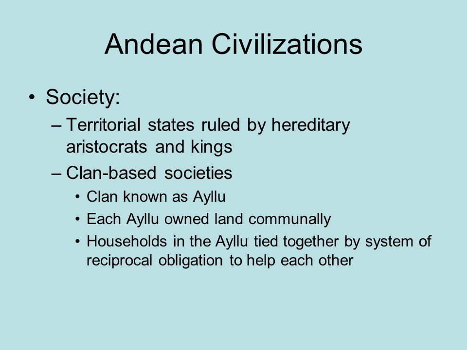 Andean Civilizations Society: