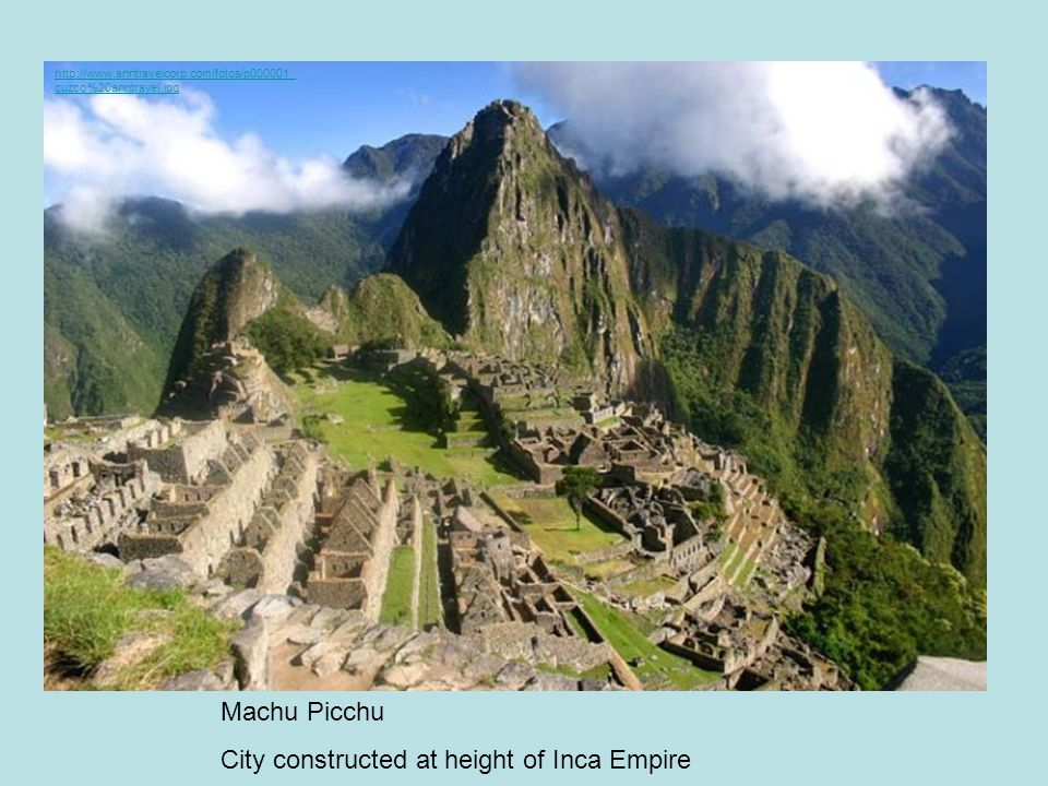 City constructed at height of Inca Empire