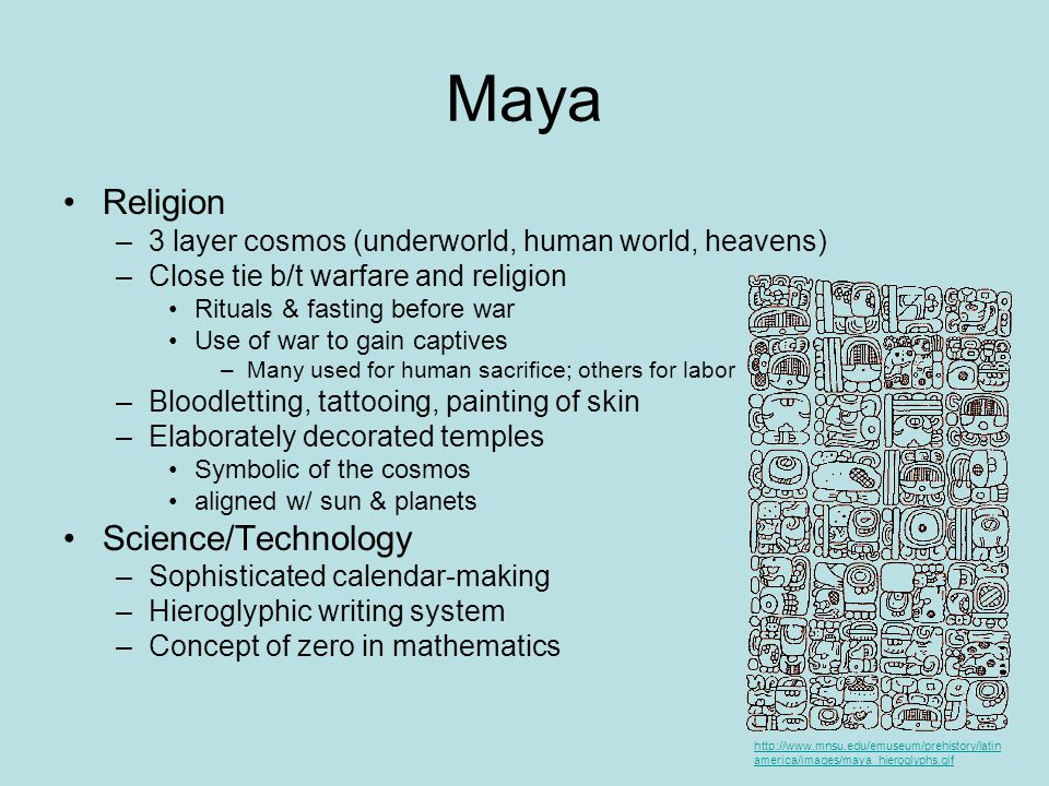 Maya Religion Science/Technology