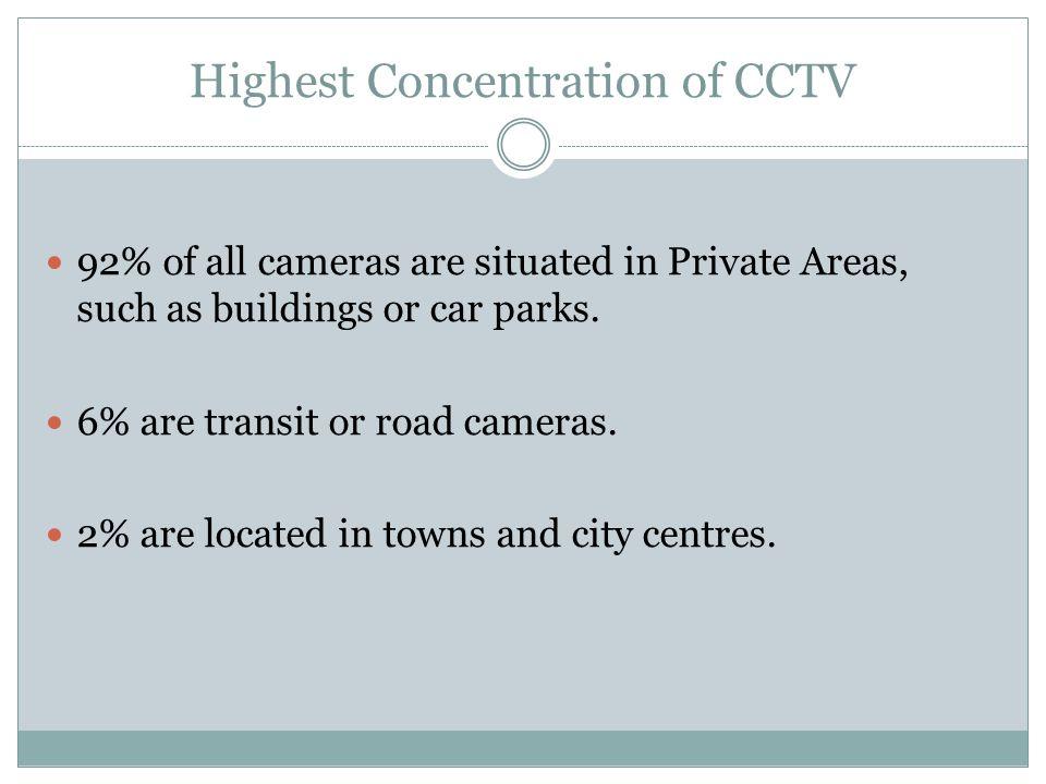Highest Concentration of CCTV