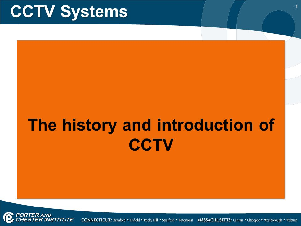 The history and introduction of CCTV