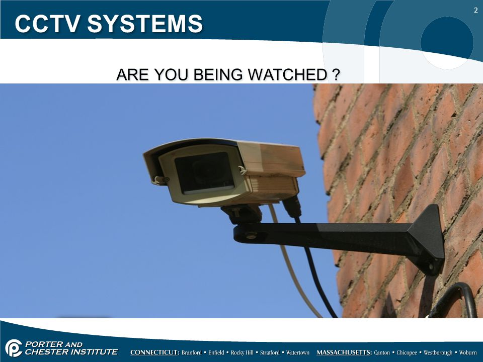 CCTV SYSTEMS ARE YOU BEING WATCHED