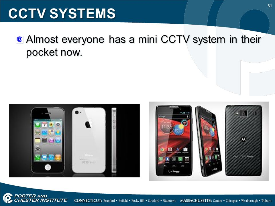 CCTV SYSTEMS Almost everyone has a mini CCTV system in their pocket now.