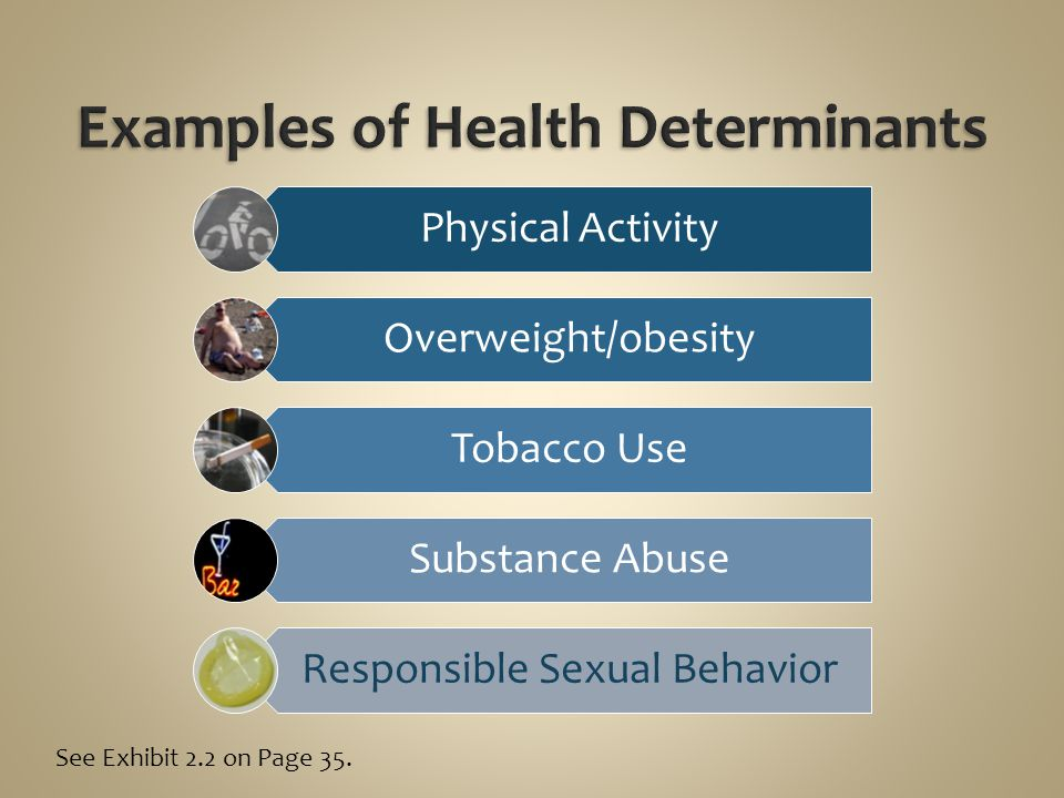 Examples of Health Determinants