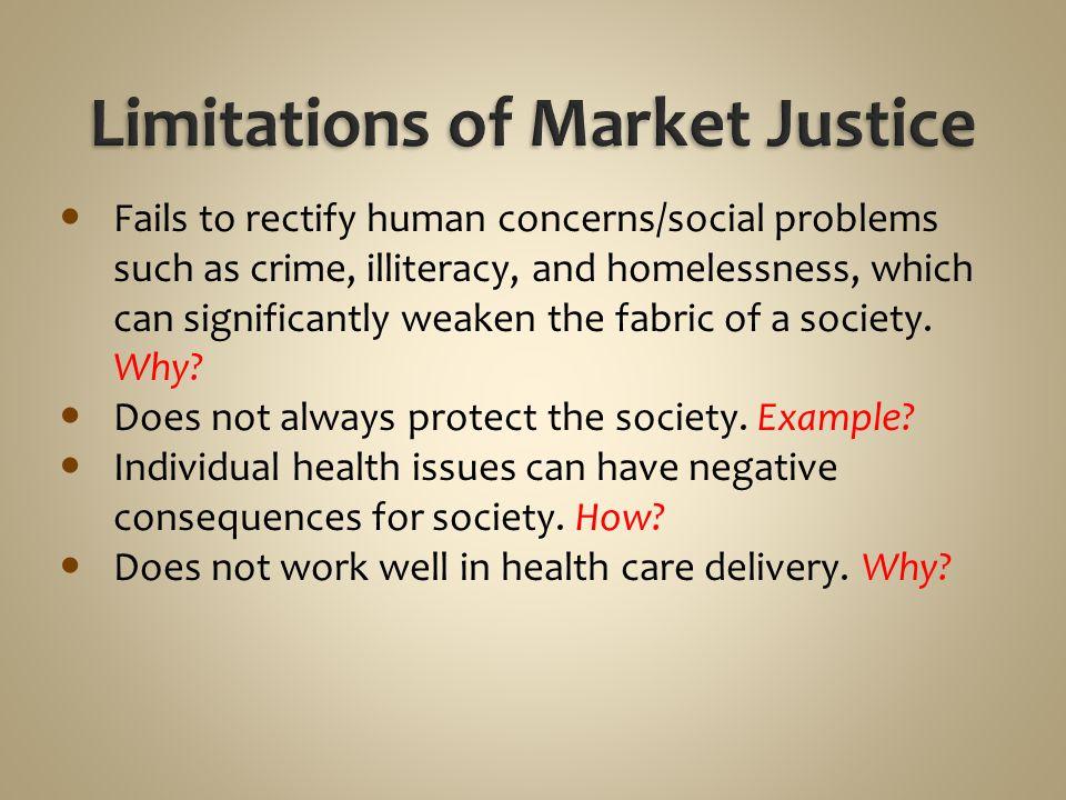 Limitations of Market Justice