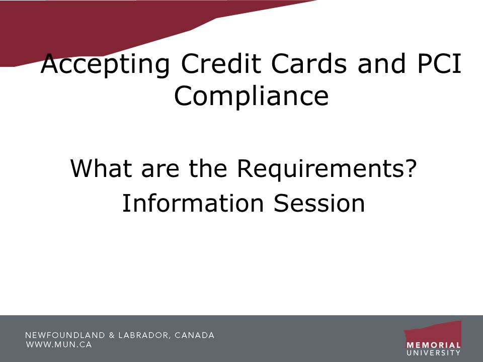 Accepting Credit Cards and PCI Compliance