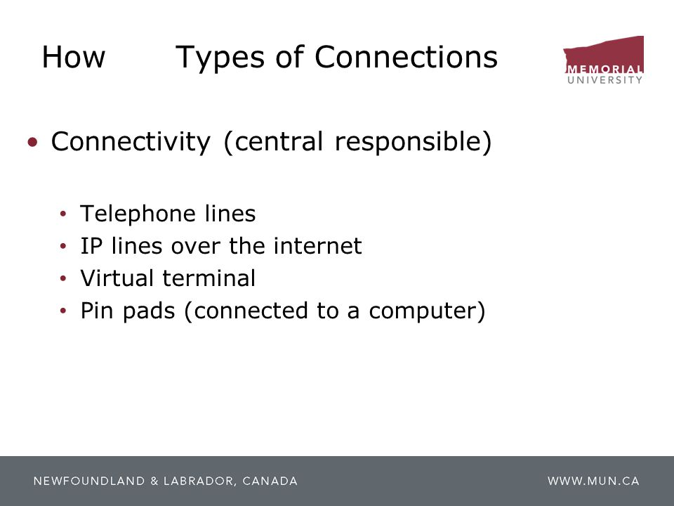 How Types of Connections