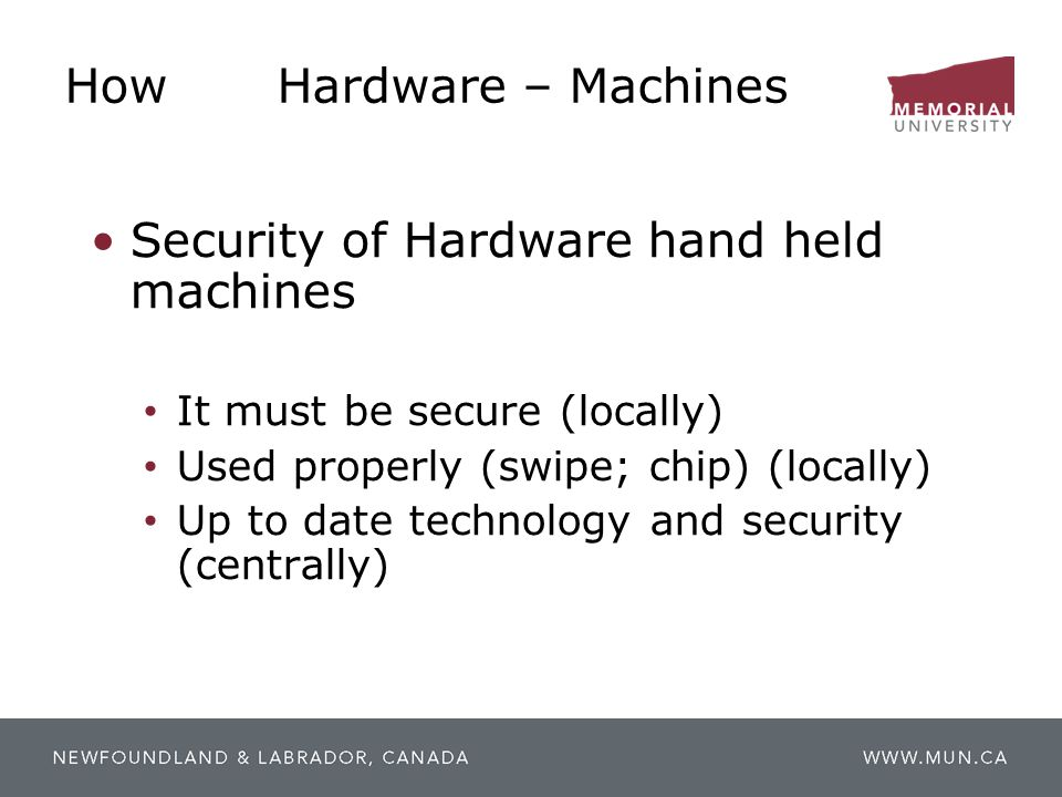 How Hardware – Machines