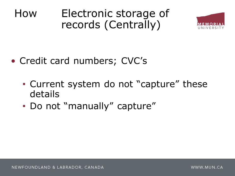 How Electronic storage of records (Centrally)