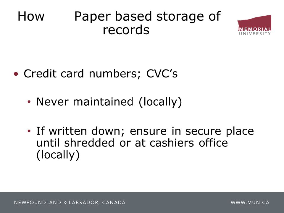 How Paper based storage of records