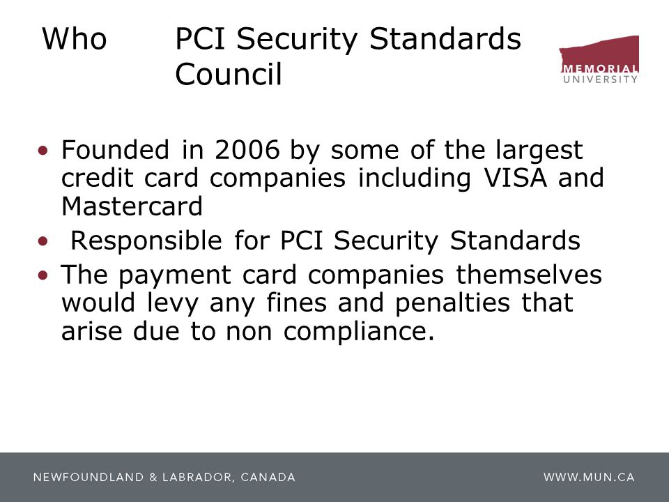 Who PCI Security Standards Council