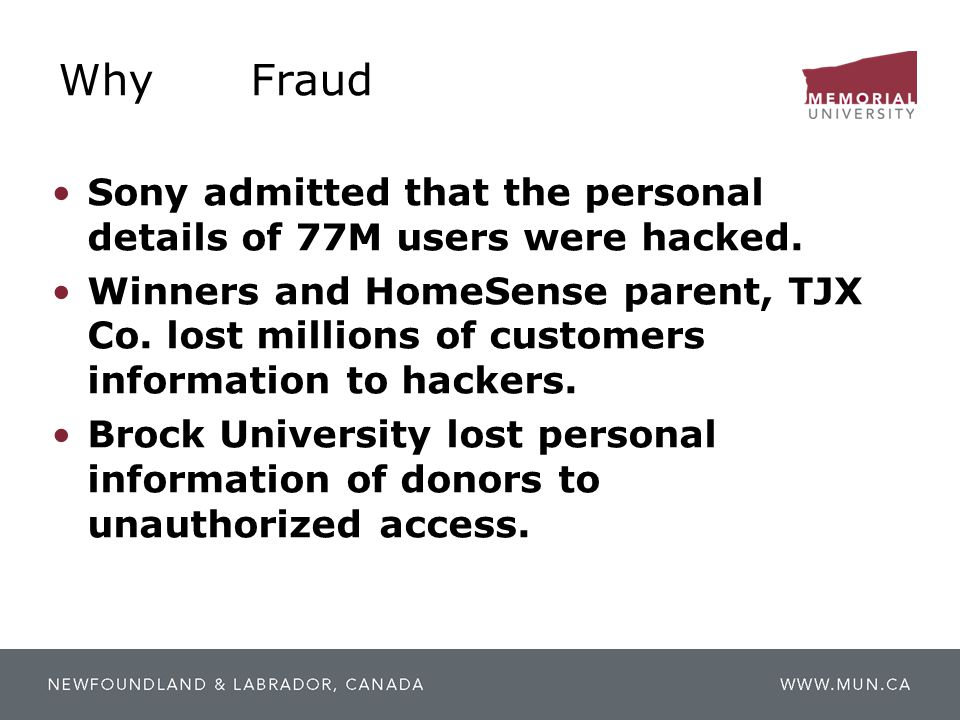 Why Fraud Sony admitted that the personal details of 77M users were hacked.