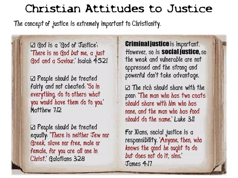 Christian Attitudes to Justice