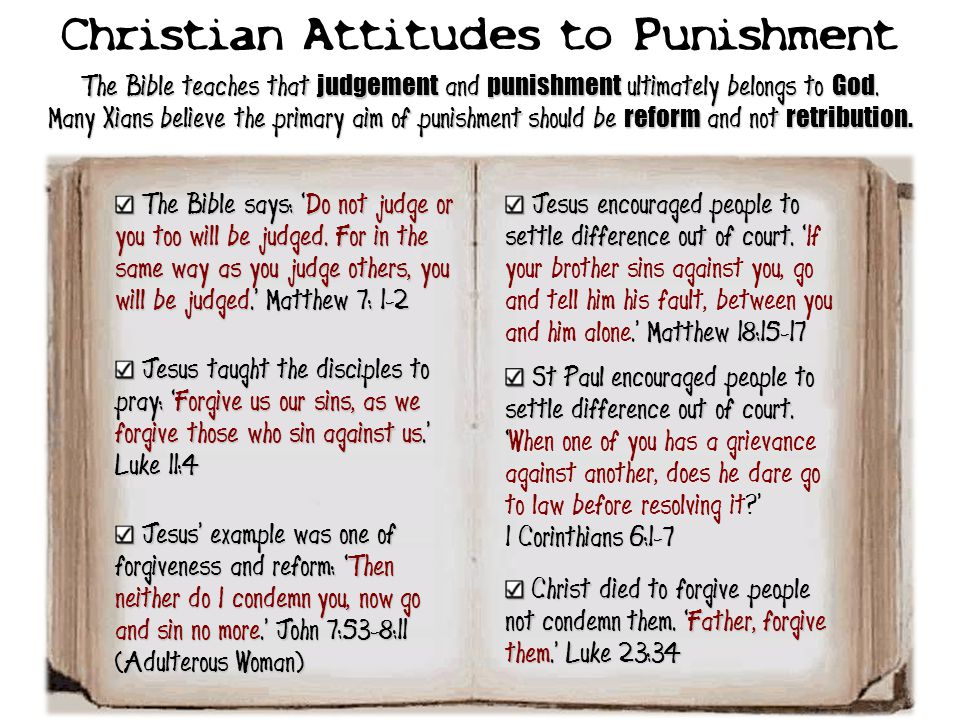 Christian Attitudes to Punishment
