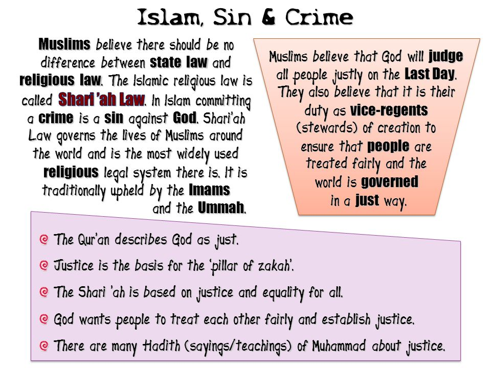 Islam, Sin & Crime