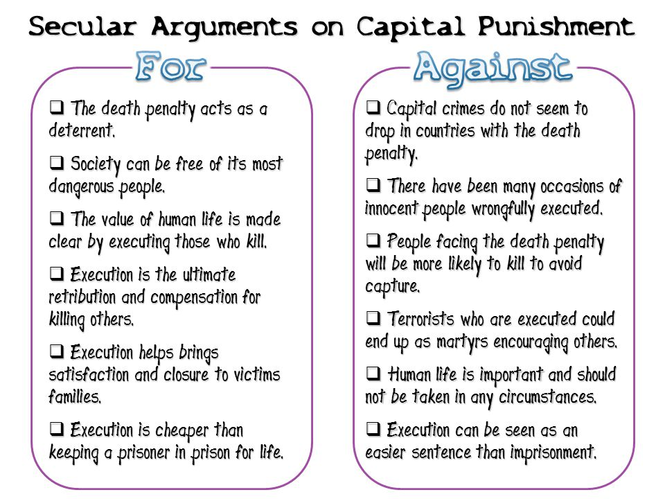 Top Arguments for the Death Penalty