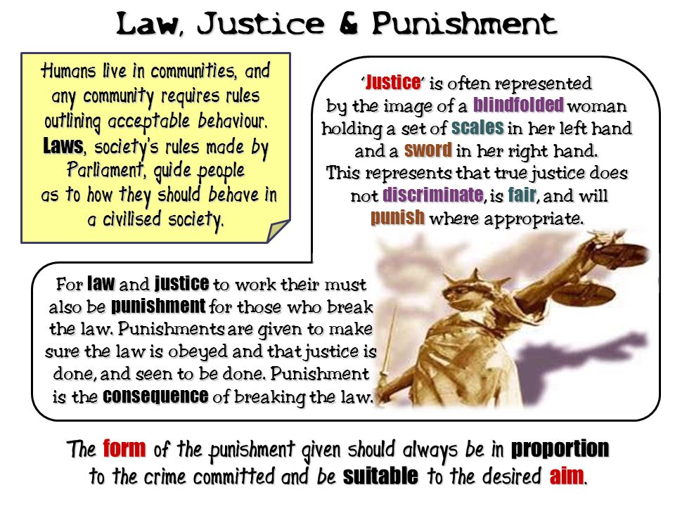 Law, Justice & Punishment